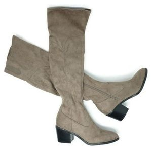 c92f8856969 Marc Fisher Shoes - Marc Fisher LTD Rossa Over the Knee Boots Taupe
